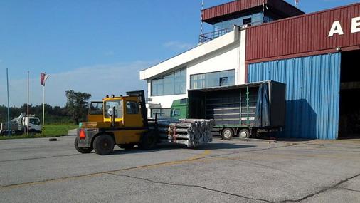Radovi na infrastrukturi na Aerodromu u Boru/ foto: Aero klub Bor