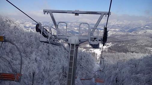 Dvosed žičara na skijalištu Crni vrh