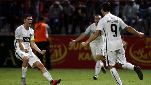 Detalj slavlja fudbalera Partizana / foto: FK Partizan