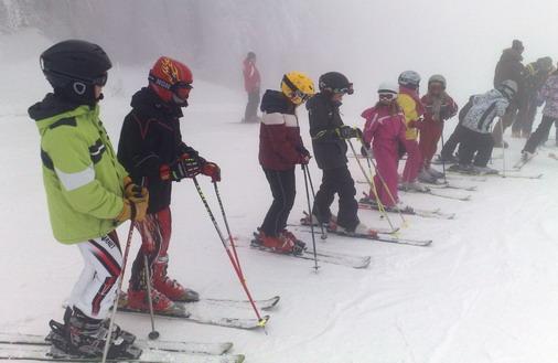 Najmlađi skijaši na snegu / foto: D.Popaz (ARHIVA)
